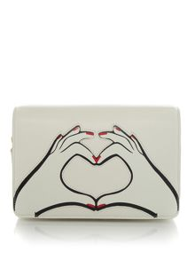 Lulu Guinness Heart Hands Smooth Leather Rene Bag