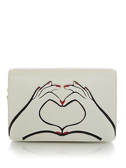 Heart Hands Smooth Leather Rene Bag