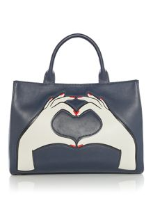 Lulu Guinness Heart Hands Medium Leather Amelia