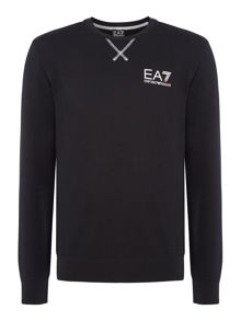 EA7 Train Core ID Crew-Neck Cotton Jumper