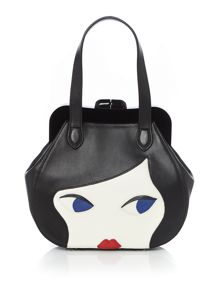 Lulu Guinness Lulu doll face small leather bag