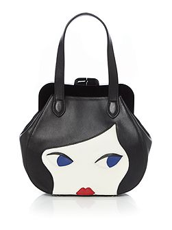 Lulu doll face small leather bag