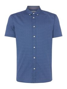 Criminal Pierce Short Sleeve Geo Print Shirt