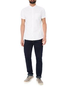 Criminal Jose Short Sleeve Oxford Plain Shirt