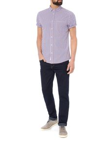 Criminal Dorado Short Sleeve Gingham Shirt