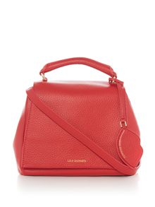 Lulu Guinness Small Grainy Leather Rita bag with lip charm