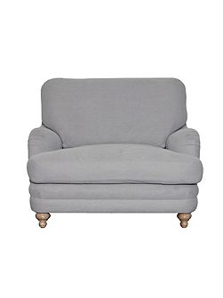 Indes cushion back snuggler, light grey