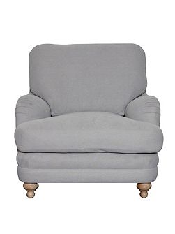 Indes cushion back armchair, light grey