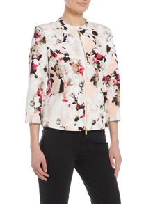 Episode Printed zip up floral bomber