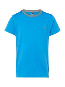 Armani Junior Boys Contrast Neck T-shirt