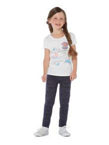 Little Dickins & Jones Girls Mermaid Fishes Starfish Wishes T-shirt