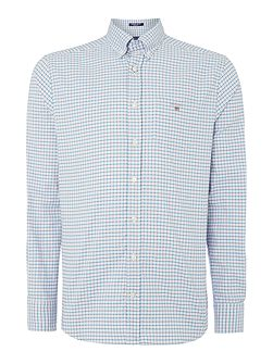 Gingham Comfort-Oxford Long-Sleeve Shirt
