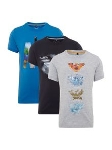 Armani Junior Boys Short Sleeve Tshirt 3 Pack