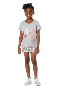 Little Dickins & Jones Girls Tropical Graphic T-shirt