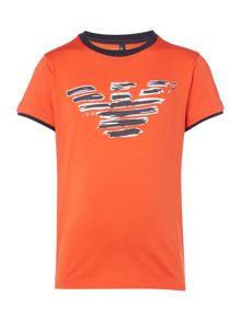 Armani Junior Boys Painted Short Sleeve T-shirt