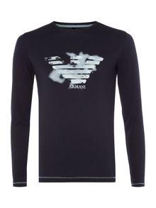 Armani Junior Boys Faded Eagle T-shirt