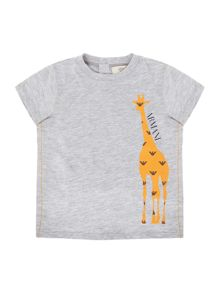 Armani Junior Boys Giraffe Graphic Short Sleeve Tshirt