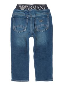 Armani Junior Boys Vintage Wash Soft Jeans