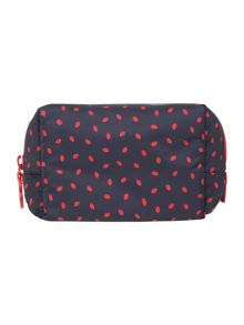 Lulu Guinness Lip print medium crescent pouch