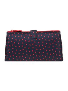 Lulu Guinness Lip Print Double Makeup Bag