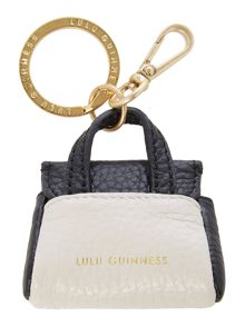 Lulu Guinness Small Grainy Leather Gertie Keyring