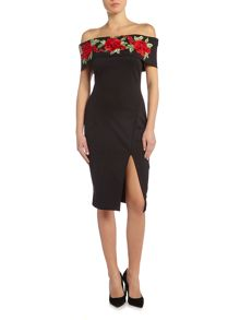 Jessica Wright Bardot neckline dress