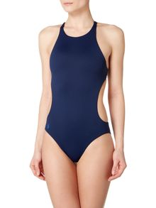 Polo Ralph Lauren Cut out high neck swimsuit