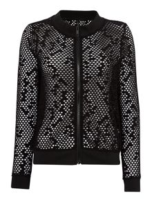 Seafolly Horizon luxe sheer mesh sports jacket