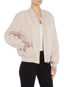 Little White Lies Long sleeves Bomber Jacket with zip closure