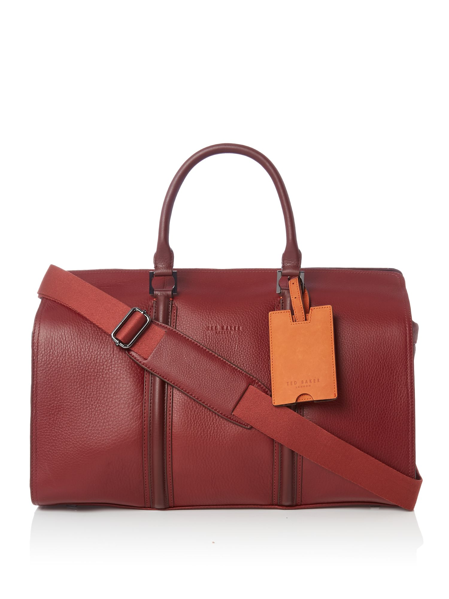 Ted Baker Basking Leather Holdall Bag Red