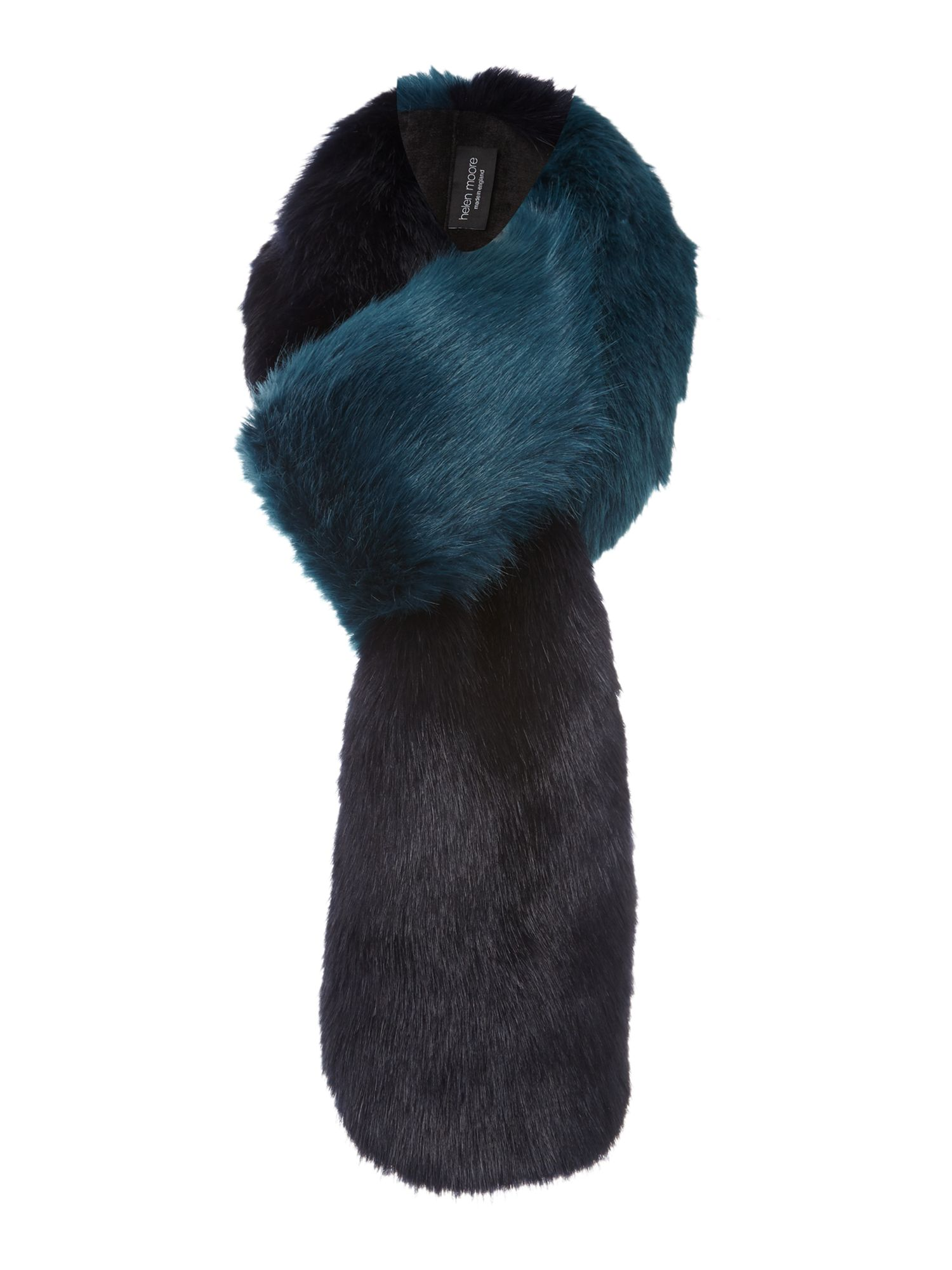 Helen Moore Helen Moore Two-tone faux fur loop scarf, Blue Multi