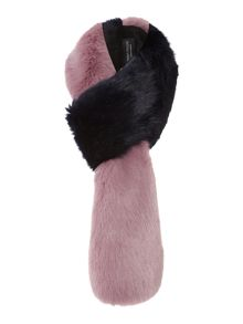 Helen Moore Two-tone faux fur loop scarf