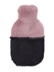 Helen Moore Faux fur two tone hot water bottle