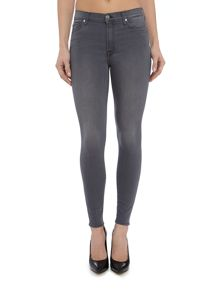 7 For All Mankind High Waist Skinny crop jean in luxe dark grey