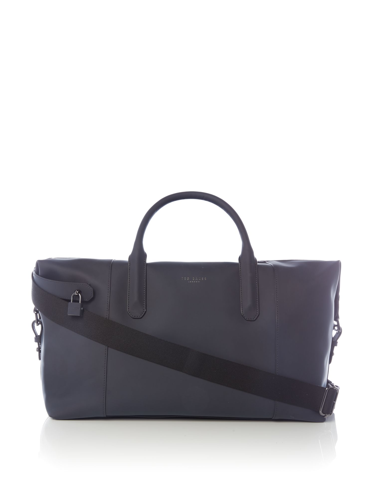 Ted Baker Cronos Rubberised Leather Holdall Navy
