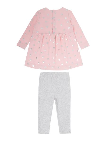 Joules Baby Girls Spot Print Dress With Leggings