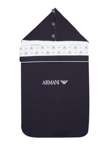 Armani Junior Baby Printed Blanket Pramsuit