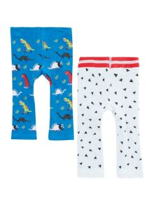 Joules Baby Boy 2 Pack Dinosaur Leggings
