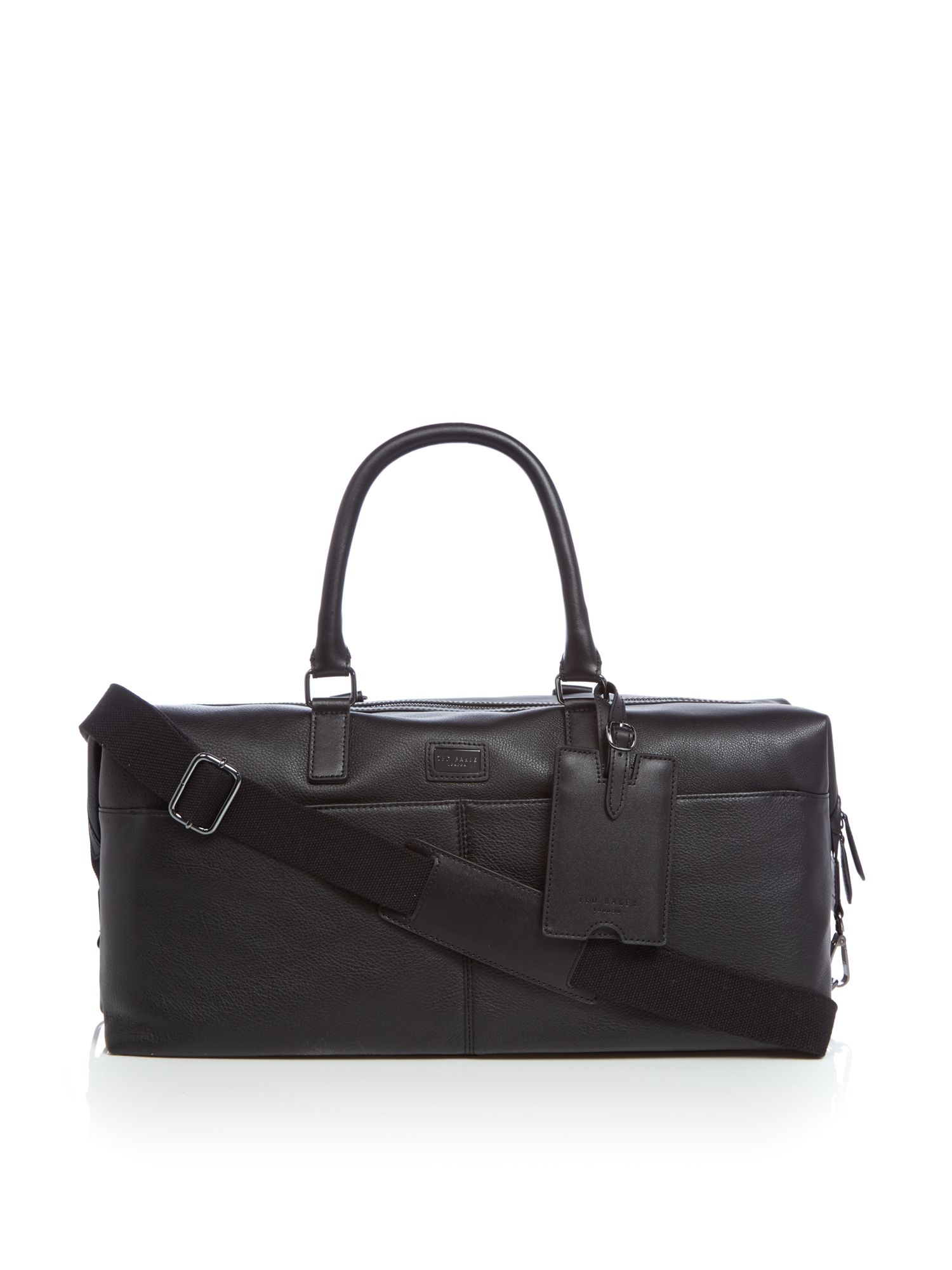 Ted Baker Tiger Leather Holdall Black