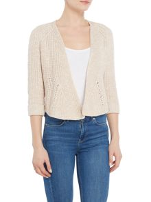 Repeat Cashmere Chunky short cardigan