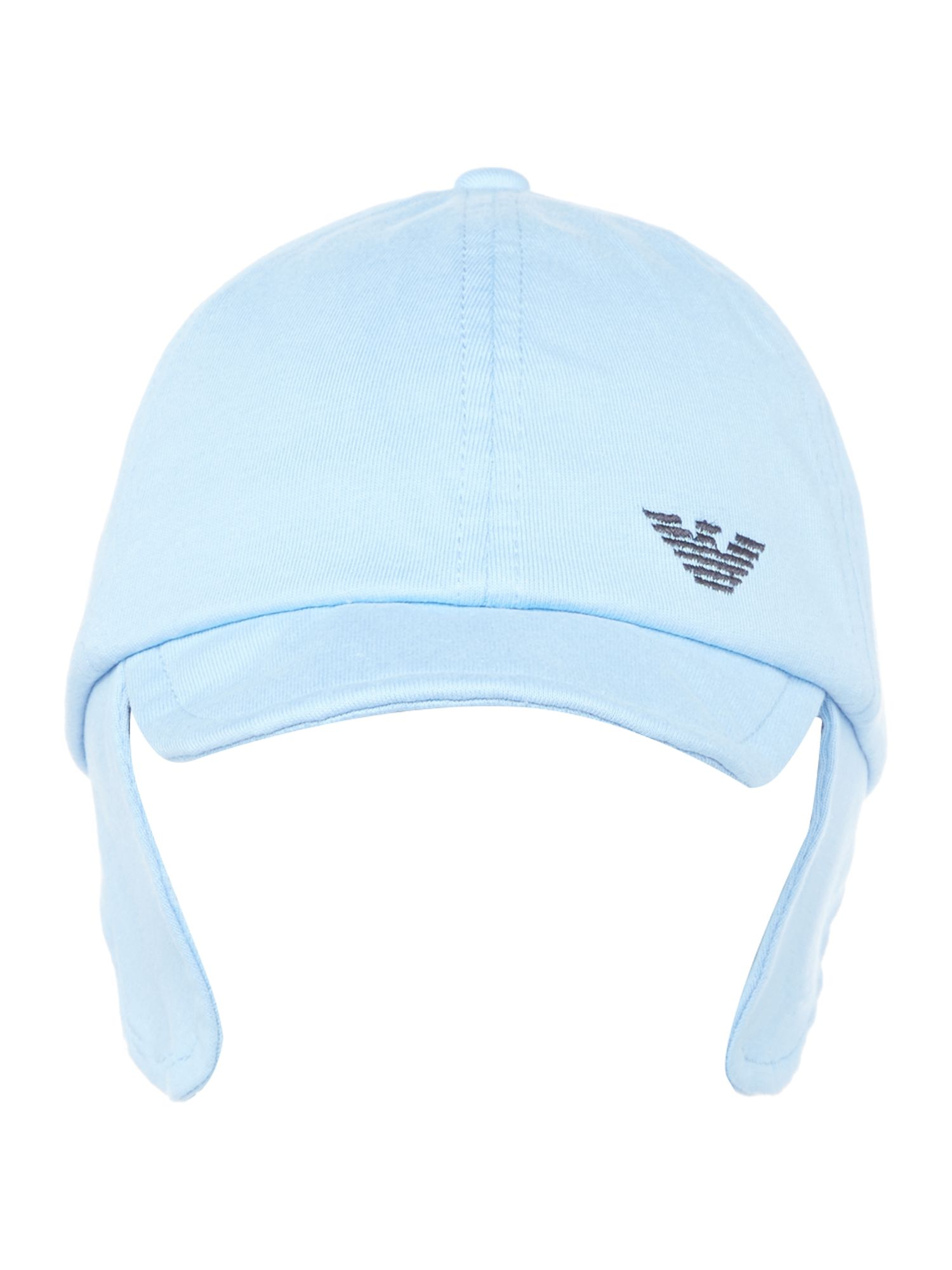 Armani Junior Baby Logo Sun Hat Light Blue