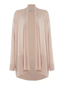 Repeat Cashmere Ribbed botton open cardigan