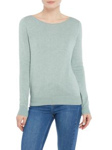 Repeat Cashmere Rolled edge neck jumper