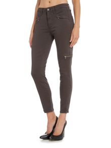 Paige Daryn ankle jean with zip detail in city grey