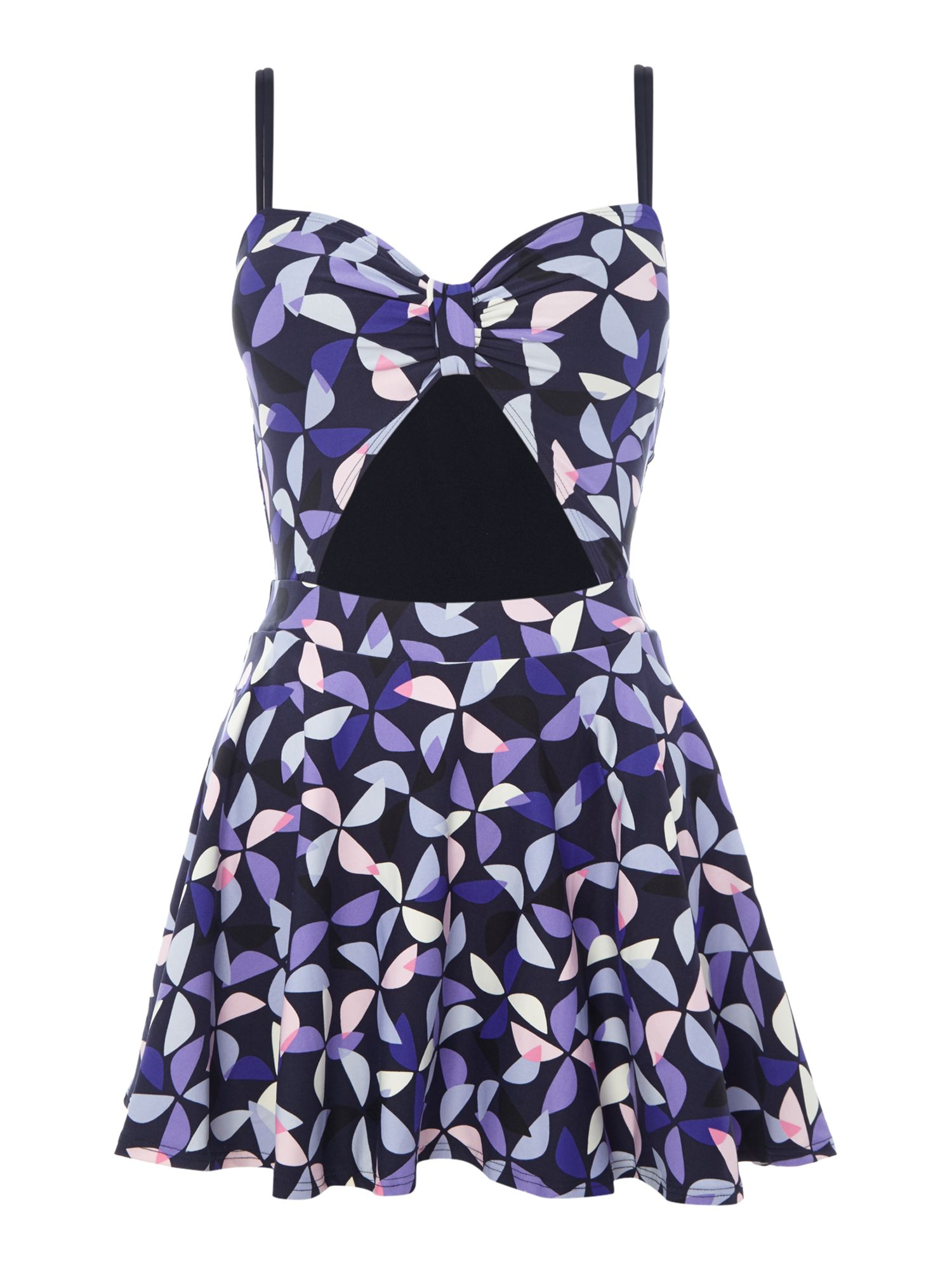 Kate Spade New York Spinner cut out swimdress, Blue