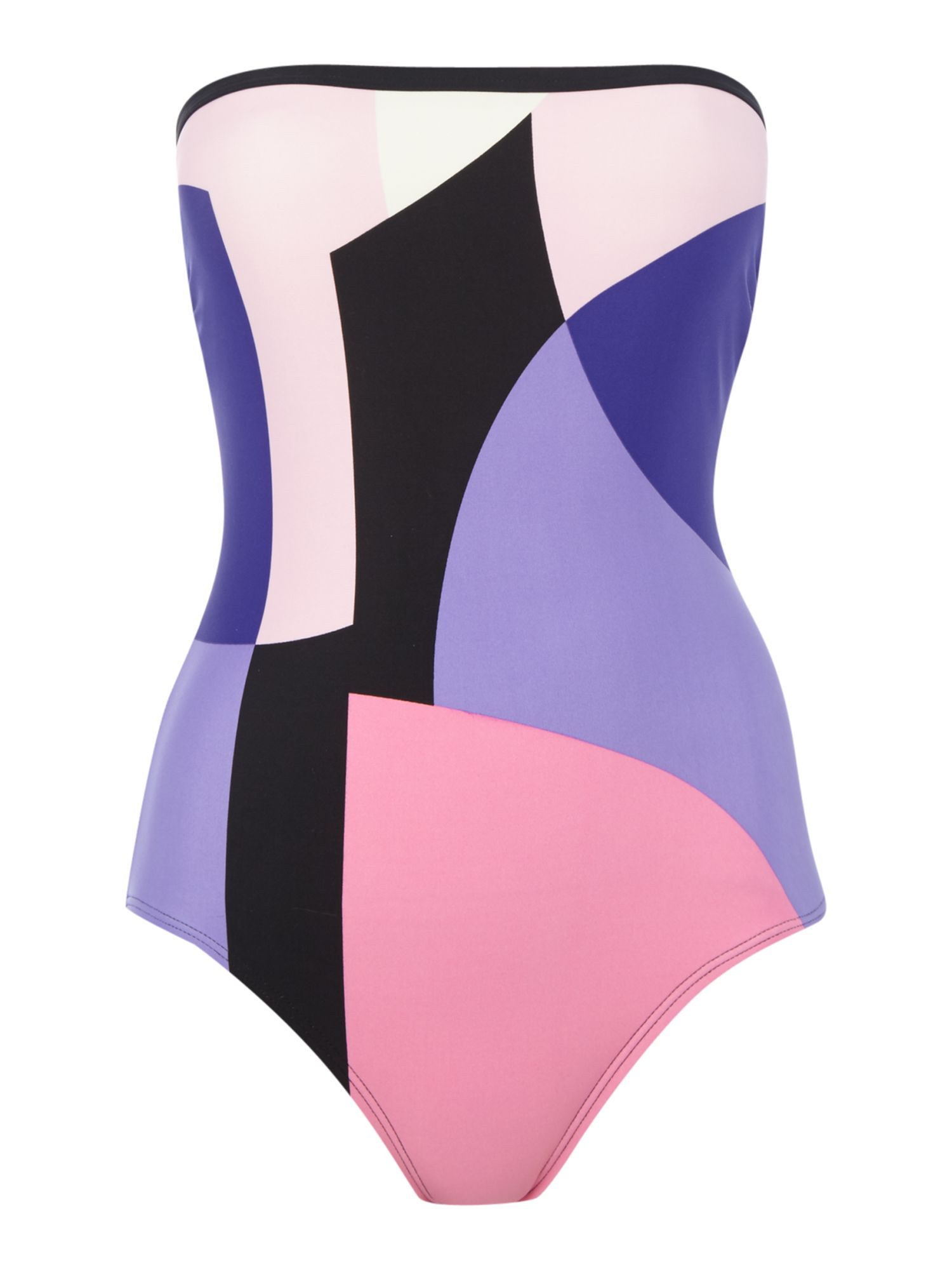 Kate Spade New York Limelight bandeau swimsuit, Multi-Coloured