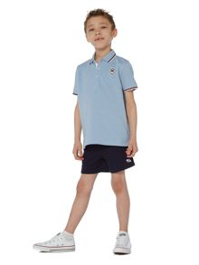Howick Junior Boys Tipped Collar Embossed Polo Shirt