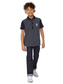 Howick Junior Boys Printed Woven Collar Polo Shirt