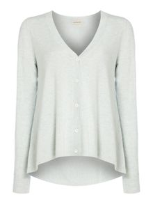 Repeat Cashmere Pleated back cashmere mix cardigan