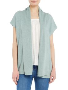 Repeat Cashmere Ribbed shawl open cardigan